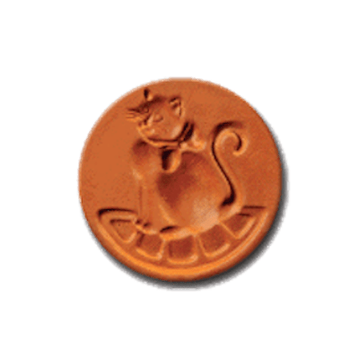 1012 Cat With a Bow cookie stamp | cookie stamp.com