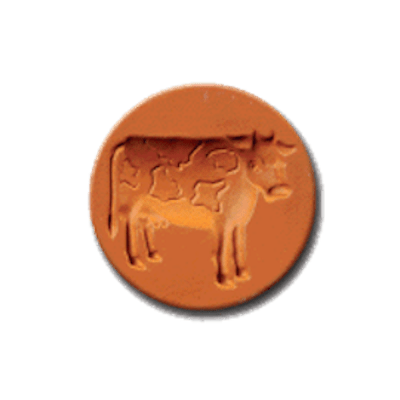 1023 Bossie the Cow Cookie Stamp | CookieStamp.com