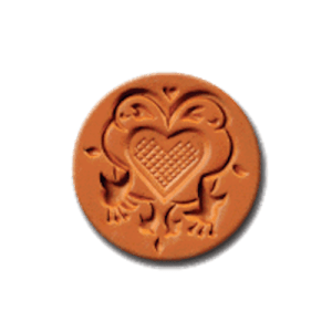 1038 Fuchsia Heart Cookie Stamp | CookieStamp.com