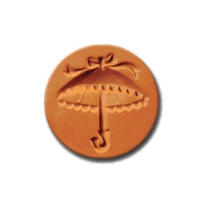 1060 Parasol Cookie Stamp   CookieStamp.com