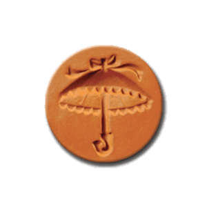 1060 Parasol Cookie Stamp | CookieStamp.com