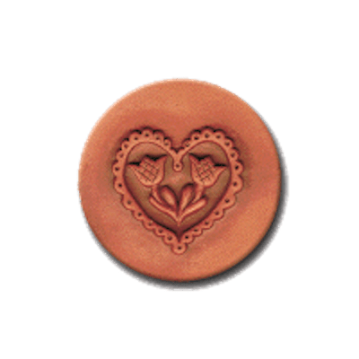201 Heirloom Rycraft Lacy Heart Cookie Stamp | CookieStamp.com