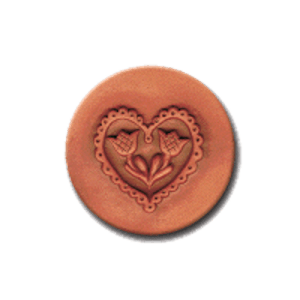 201 Heirloom Rycraft Lacy Heart Cookie Stamp | CookieStamp.com