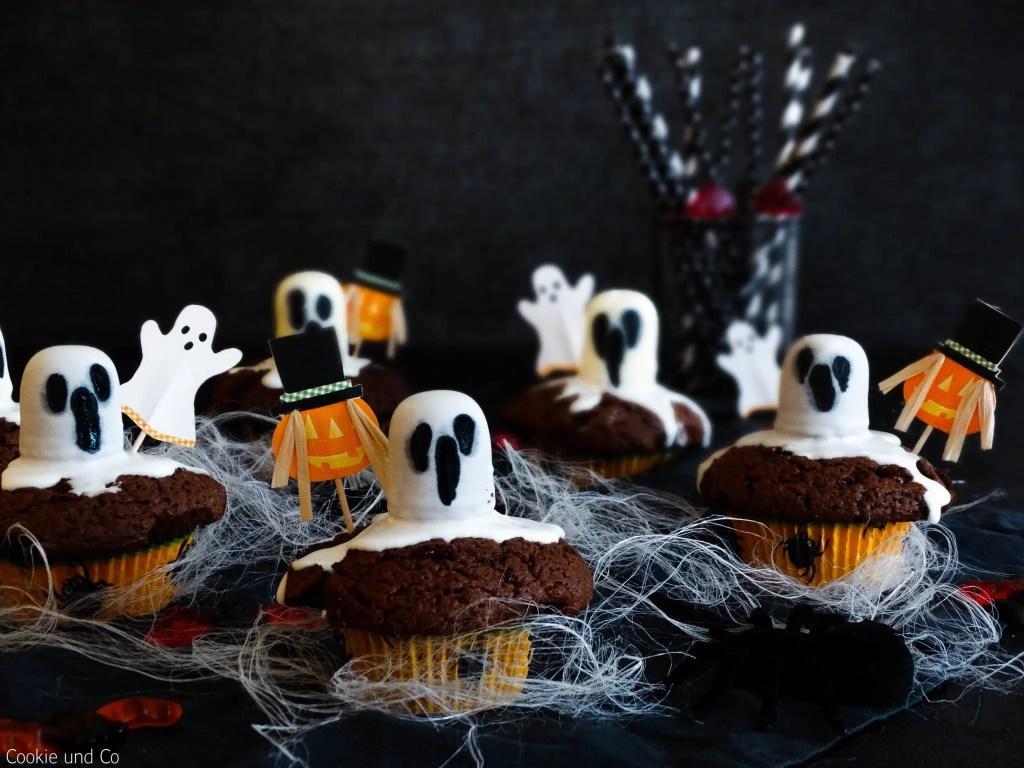 Gespenstische Brownie-Muffins