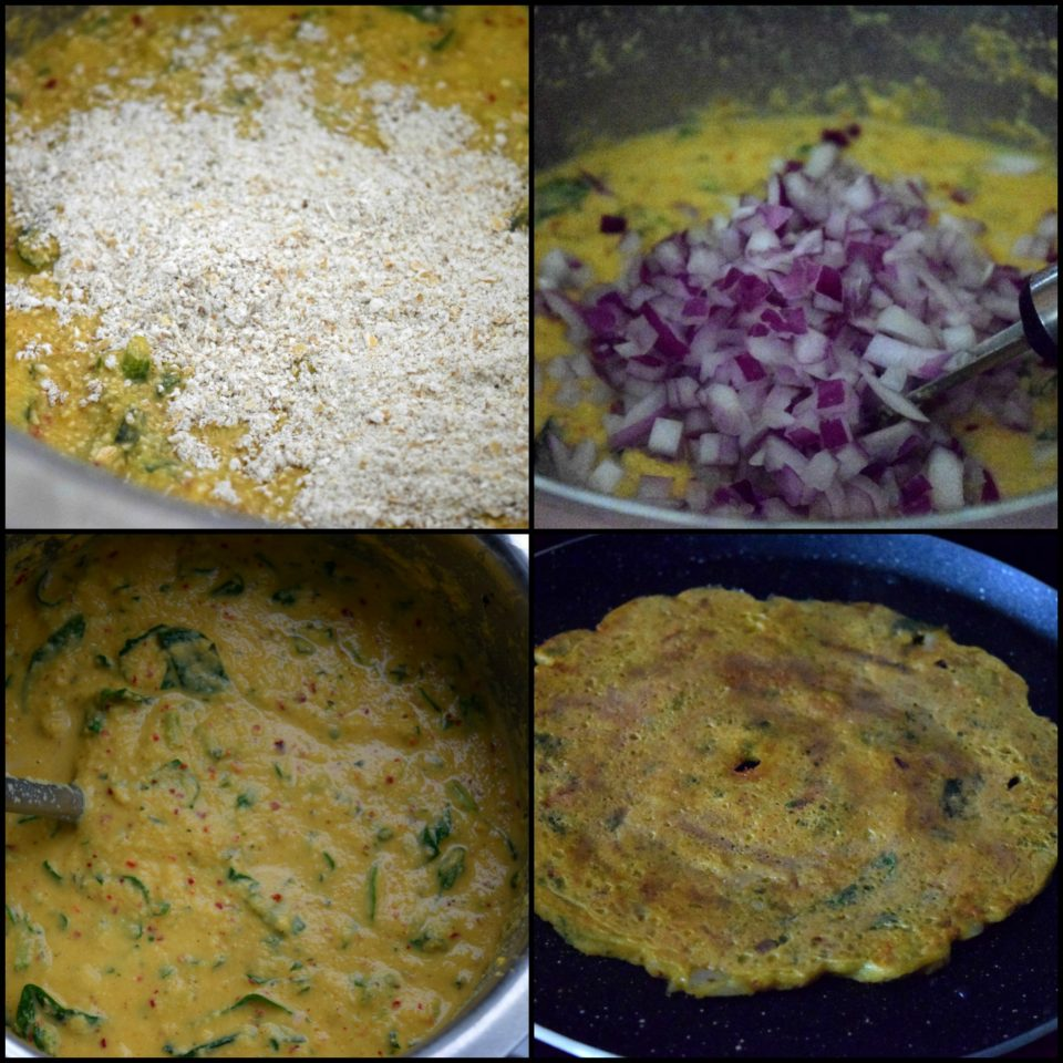 Moong Dal Spinach Chilla | Lentils & Spinach CrepesPower Breakfasts South Indian