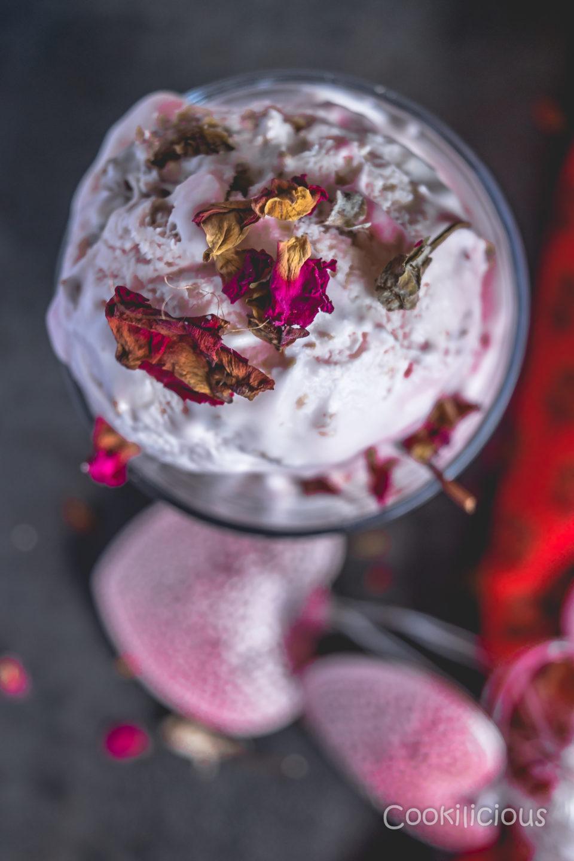 No-Churn Rose Gulkand Ice CreamDesserts