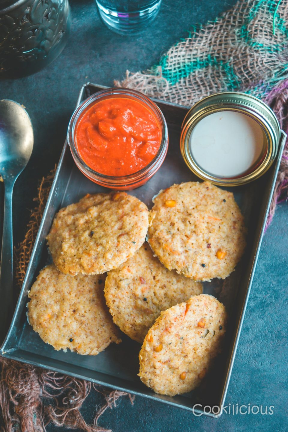 Instant Sweet Potato & Quinoa Idli/Steamed CakesPower Breakfasts South Indian