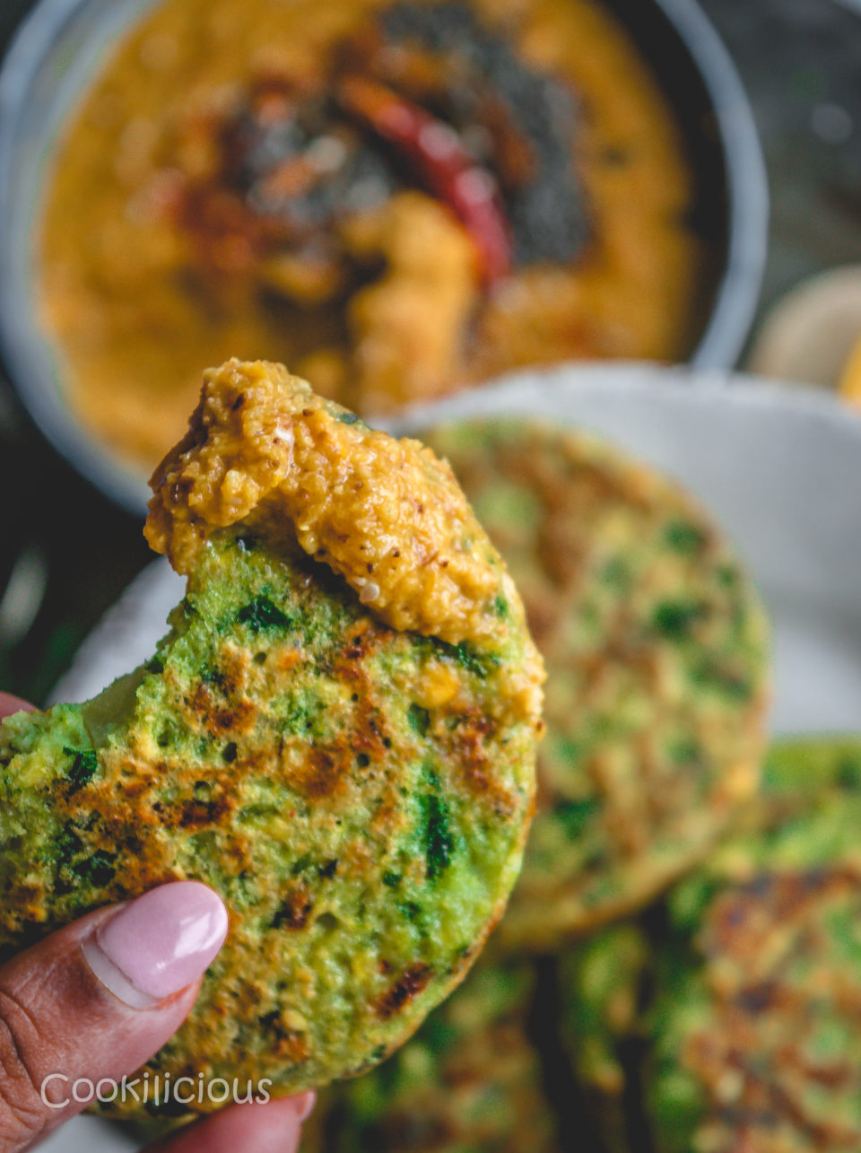 Kale Adai | Kale & Lentil Savory PancakesPower Breakfasts South Indian
