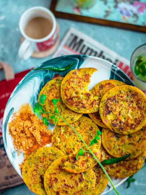 close up shot of Mini Masala Uttapam on a plate