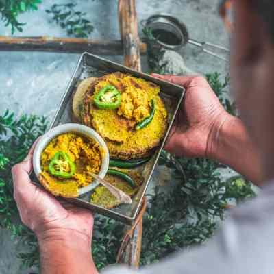 Gluten Free Bajra Jowar Bhakhri | Sorghum & Pearl Millet Flour Flatbread