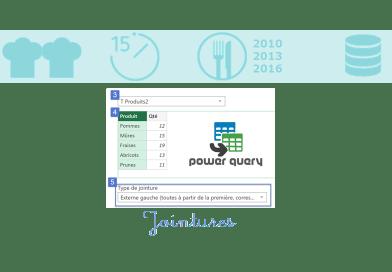 Fusionner et Ajouter Tables dans PowerQuery