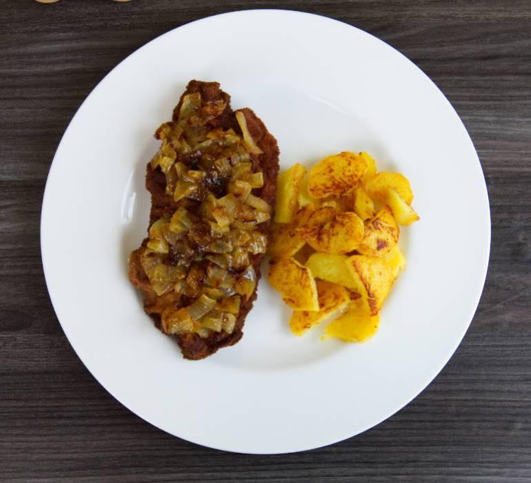 b onion schnitzel