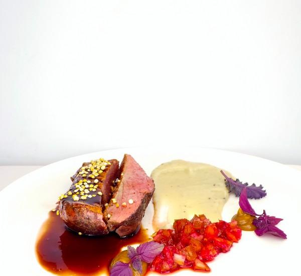 Challans Duck // Jerusalem Artichoke // Date // Blood Orange