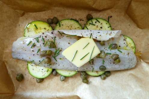 Sea bass fillet oven baked