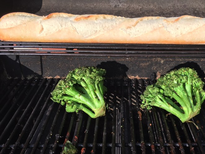broccoli on grill