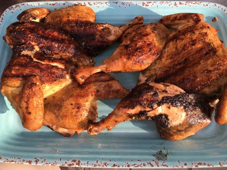 spatchock chicken on grill