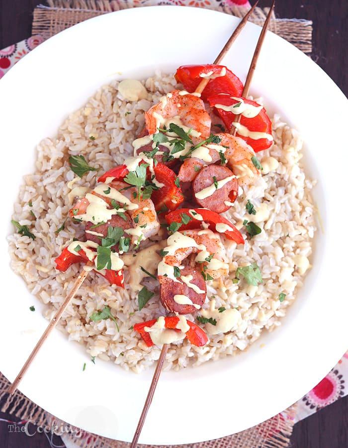 Andouille and Shrimp Kebabs - CookingBride.com