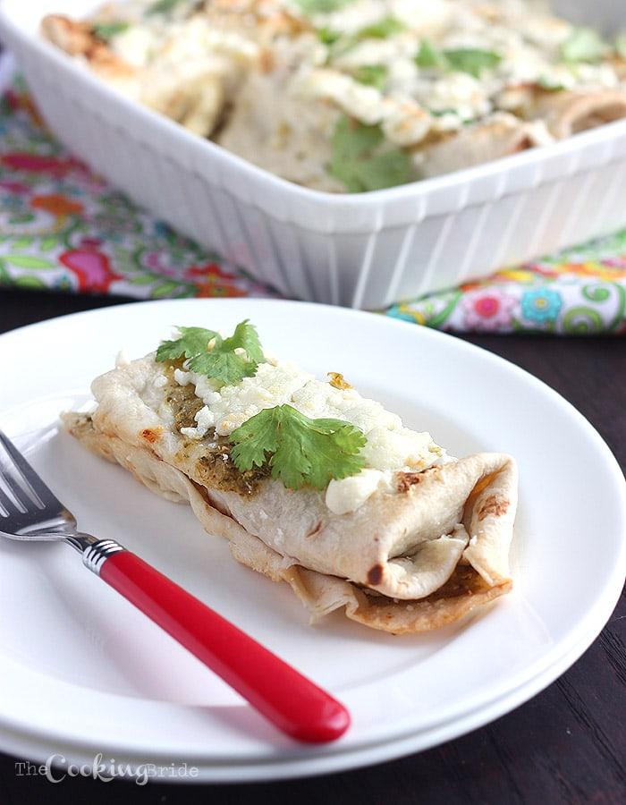 green chicken enchiladas