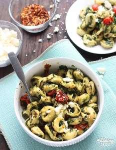 Tortellini with Roasted Tomatillo Sauce - CookingBride.com