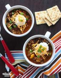 Pumpkin Black Bean and Turkey Chili - CookingBride.com