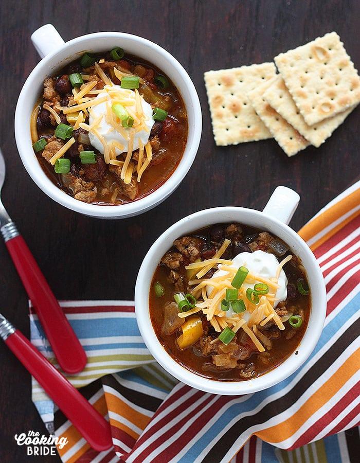 Pumpkin Black Bean and Turkey Chili - CookingBride.com