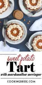 sweet potato tart with marshmallow meringue