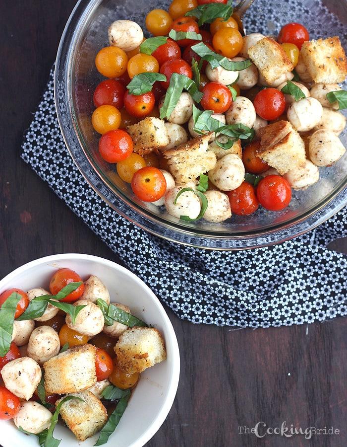 Tomato Basil and Mozzarella Salad - CookingBride.com