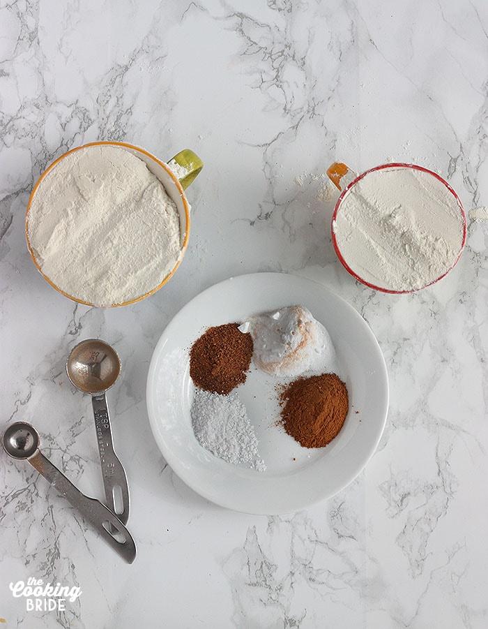 Pumpkin Bread dry ingredients