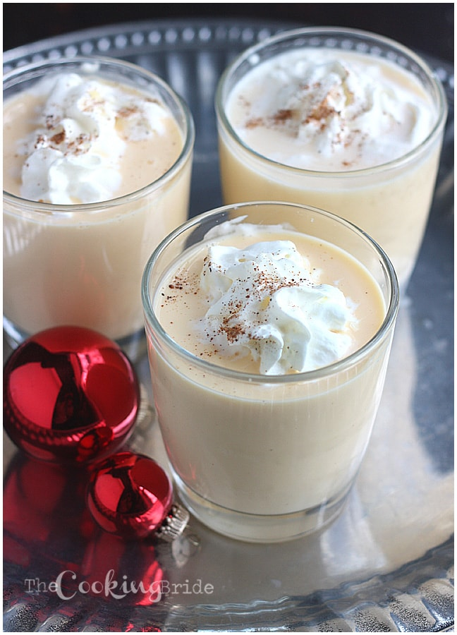 This Christmas, whip up this quick and easy homemade eggnog recipe. From blender to your glass in less that five minutes!