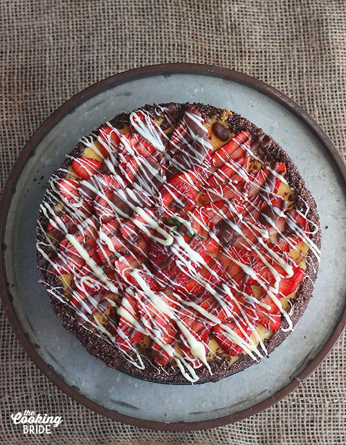 homemade strawberry cheesecake