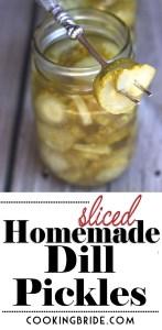 Sliced Homemade Dill Pickles