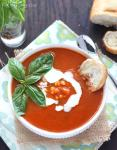 Corn and Tomato Basil Soup - CookingBride.com