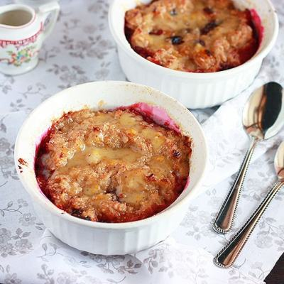 Creme Brulee Oatmeal with Ginger Cream