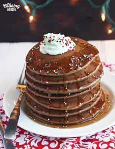 Gingerbread Pancakes with Maple Syrup and Banana Whipped Cream - CookingBride.com
