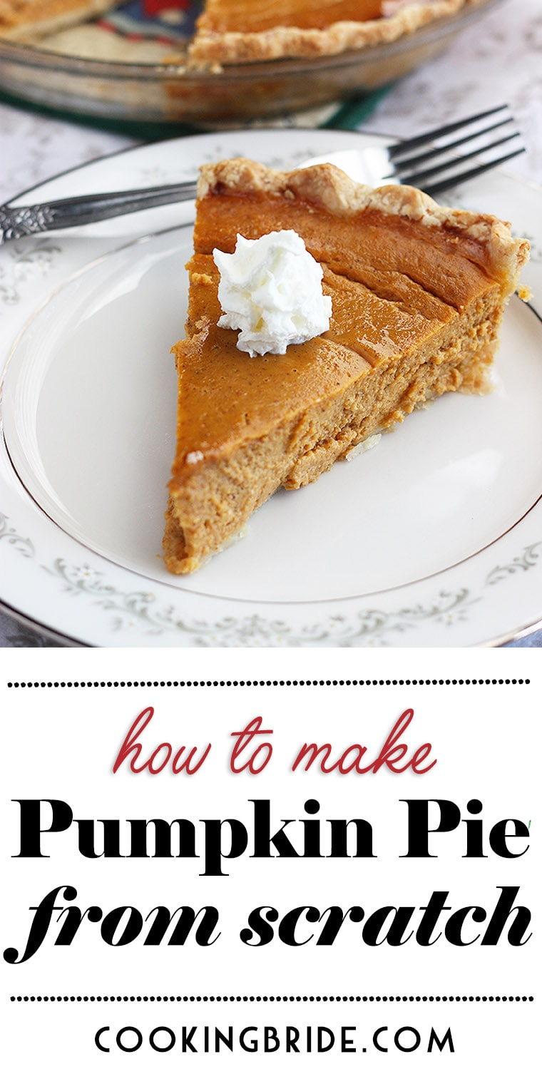 Looking for an easy pumpkin pie recipe you can made from scratch? This traditional recipe will be a hit on your Thanksgiving dessert table.