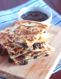 Barbecue Bacon Mushroom Quesadillas - CookingBride.com