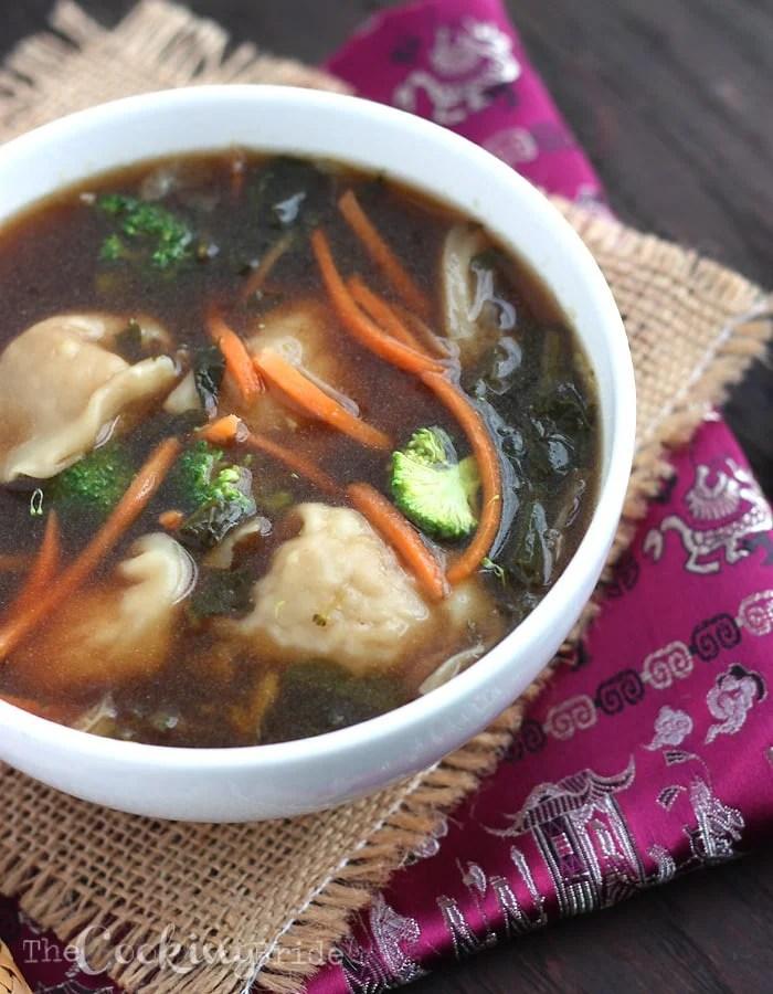 Thai Garden Vegetable Chicken Wonton Soup - CookingBride.com