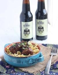 Beer Braised Meatballs - CookingBride.com