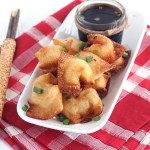 Tasty Southern spin on a cream cheese wontons recipe. Crawfish tails are mixed with cream cheese, wrapped in wonton wrappers and fried until golden brown.