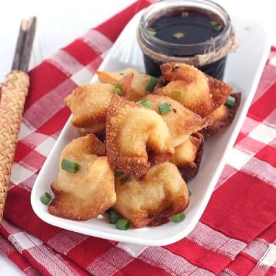 Crawfish Cream Cheese Wontons