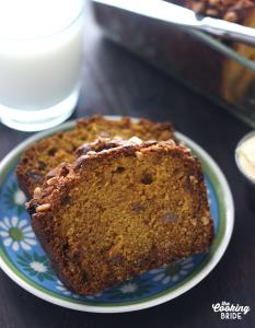 Pumpkin Bread with Golden Raisins and Hazlenuts - CookingBride.com