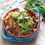 Slow cooker tamale pie casserole has all the flavor of an actual tamale without all the work. Seasoned ground beef is topped with tender masa harina.