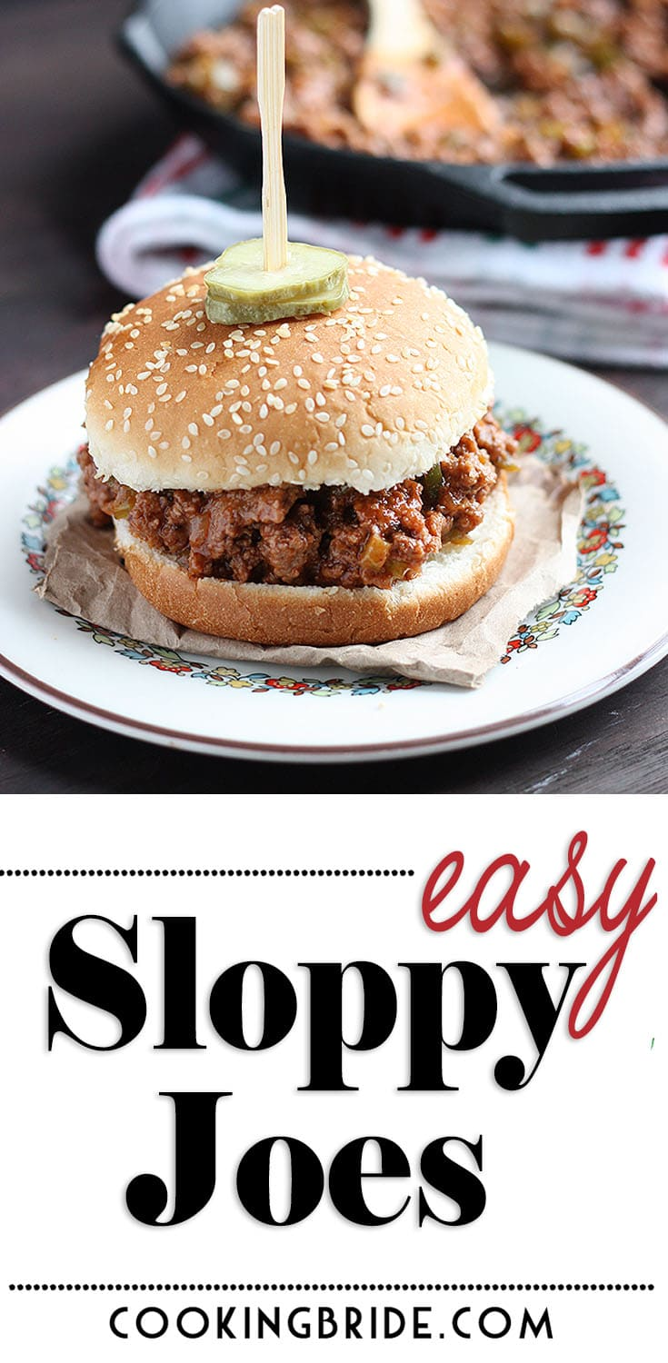 Once you try this easy Sloppy Joe recipe, you'll never go back to store bought sauce again. Packed with flavor, ground beef is sauteed with diced bell peppers, celery, and onions and seasoned with a yummy homemade sauce.