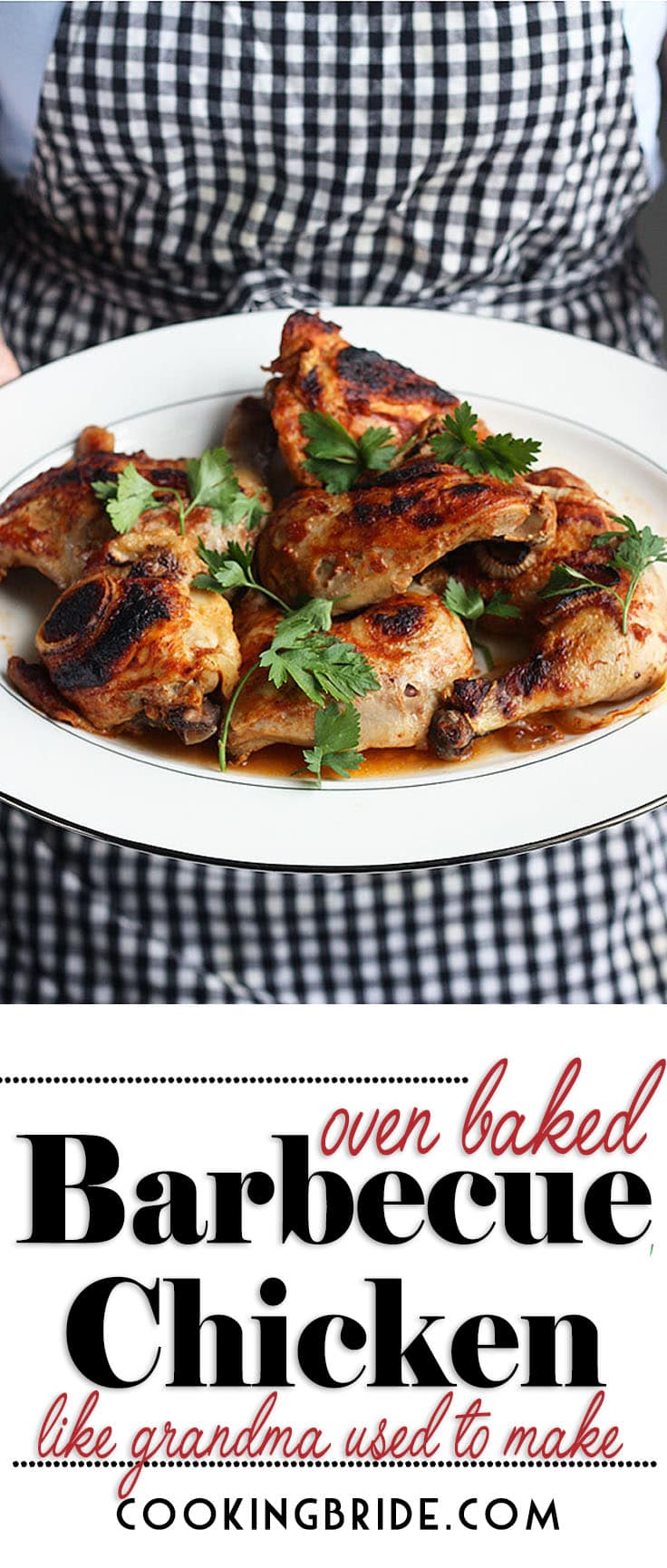 Sink your teeth into oven baked barbecue chicken like Grandma used to make. Chicken pieces are baked in a homemade sauce and seasoned with fresh onion slices for added flavor.