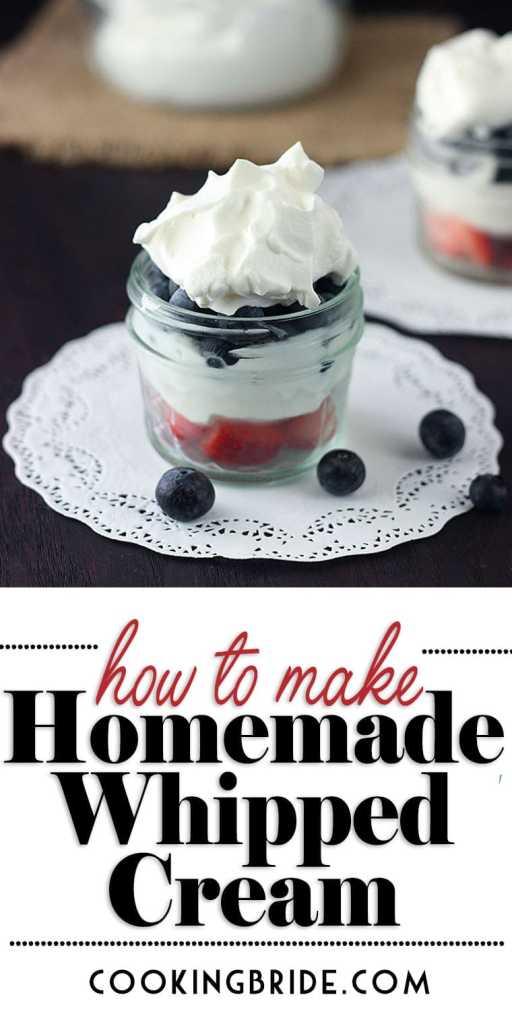 How to Make Homemade Whipped Cream P