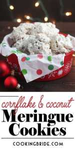 coconut cornflake meringue cookies