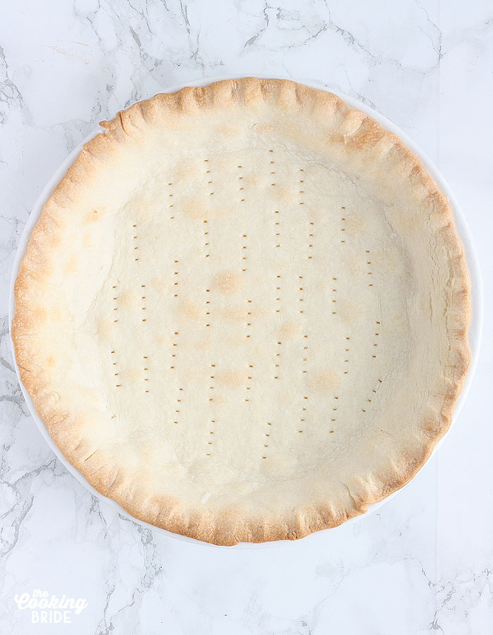 pie crust after it has been blind baked
