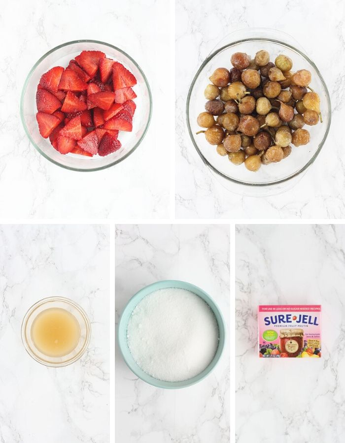 strawberry fig jam ingredients