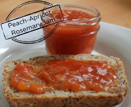 peach apricot rosemary jam
