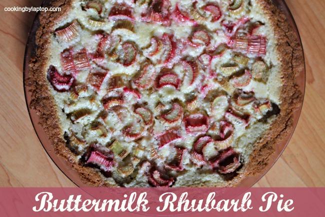 Buttermilk Rhubarb Pie